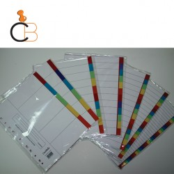 PP CARDBOARD COLOUR INDEX DIVIDERS