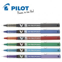 PILOT HI-TECPOINT V5 LIQUID INK ROLLER PEN - FINE TIP
