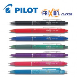 PILOT FRIXION BALL CLICKER GEL INK ROLLER PEN - MEDIUM TIP
