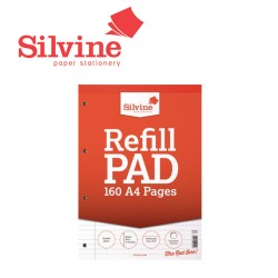 SILVINE REFILL PAD A4 - 160 pages - 80 sheets