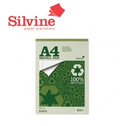 SILVINE RECYCLED REFILL PAD A4 - 160 pages - 80 sheets