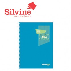 SILVINE FLUORESCENT TWIN WIRE A4 NOTEBOOKS -160 pages - 80 sheets