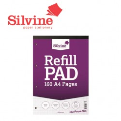 SILVINE GRAPH REFILL PAD A4 - 160 pages - 80 sheets