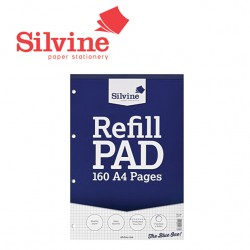 SILVINE SQUARES REFILL PAD A4 - 160 pages - 80 sheets