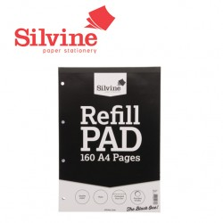 SILVINE PLAIN REFILL PAD A4 - 160 pages - 80 sheets