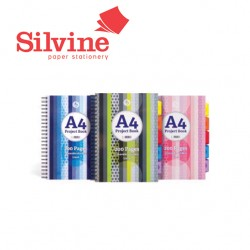 SILVINE A4 PROJECT BOOKS - PADPBA4