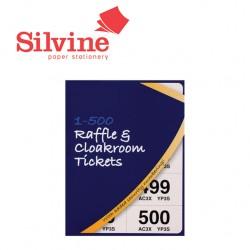 SILVINE RAFFLE & CLOAKROOM TICKETS 1-500