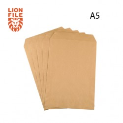 A5 BROWN ENVELOPES 100GSM - PACK OF 50