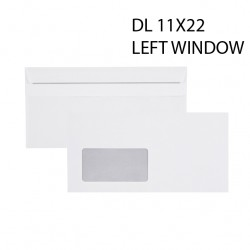 DL WINDOW 11X22 WHITE ENVELOPES 90GSM - PACK OF 50