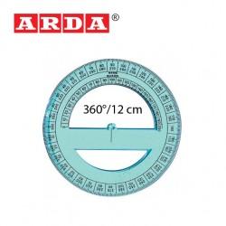 ARDA PROTRACTOR 360°/12 cm