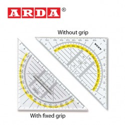 ARDA GEOMETRIC SQUARES WITH FIXED GRIP OR WITHOUT GRIP - 45° 16 cm