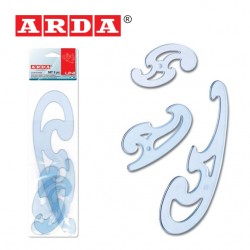 ARDA FRENCH CURVES  -  SET OF 3