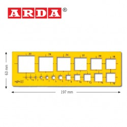 ARDA TEMPLATES - 1÷30 mm