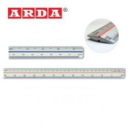 ARDA TRIANGULAR ALUMINIUM SCALE RULER - 15cm or 30cm