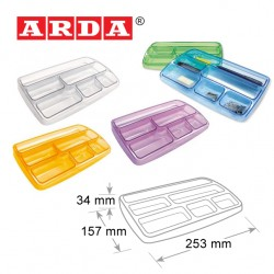 ARDA PEN TIDY - TRANSPARENT COLOURS