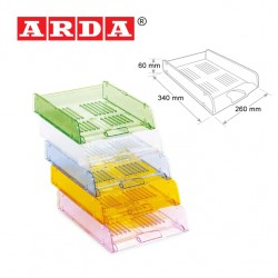 ARDA LETTER TRAY - TRANSPARENT COLOURS