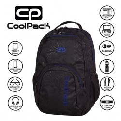 COOLPACK BAGS - BACKPACK TOPOGRAPHY BLUE 984