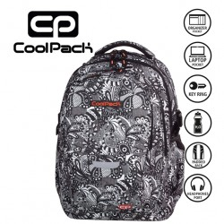 COOLPACK BAGS -  BACKPACK BLACK LACE 999
