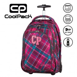 COOLPACK BAGS - TROLLEY BACKPACK CRANBERRY CHECK 631
