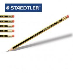 STAEDTLER NORIS 122 Pencils w/ Eraser Tip - HB