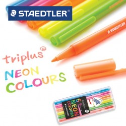 STAEDTLER TRIPLUS FINELINER 323 NEON COLOURS -  Box of 6