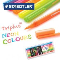 STAEDTLER TRIPLUS FINELINER 323 NEON COLOURS -  Box of 6