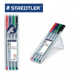 STAEDTLER  TRIPLUS FINELINER 334 - Box of 4 assorted colours