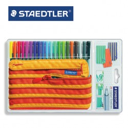 STAEDTLER  TRIPLUS FINELINER 334 - Pencil Case of 20 assorted colours