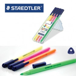 STAEDTLER Triplus® Textsurfer® 362 Triangular Highlighter - Box of 4 assorted colours