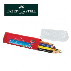 FABER CASTELL TRIANGULAR COLOUR PENCILS - Case of 10