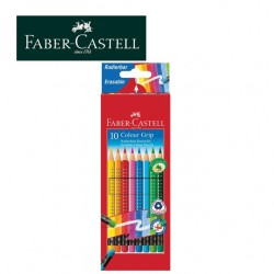 FABER CASTELL TRIANGULAR COLOUR PENCILS - Pack of 10