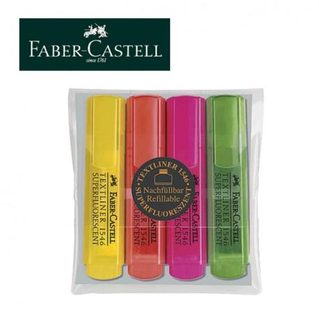 FABER CASTELL HIGHLIGHTERS Textliner 1546 - Set of 4
