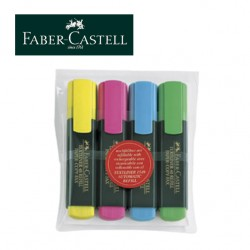 FABER CASTELL HIGHLIGHTERS Textliner 1548 - Set of 4