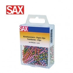 SAX ZEBRA COLOUR PAPER CLIPS 30mm