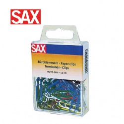 SAX COLOUR PAPER CLIPS 25mm