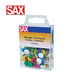 SAX COLOUR DRAWING PINS - Pack of 120