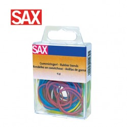 SAX COLOURED RUBBER BANDS - 15gr