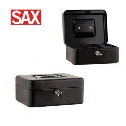 SAX CASH BOX METAL SAFES - 25x18x9cm Black