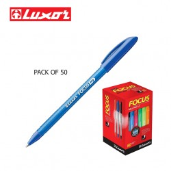 LUXOR FOCUS ICY BALL PENS - BLUE