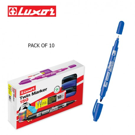 LUXOR TWIN MARKERS - PACK OF 10