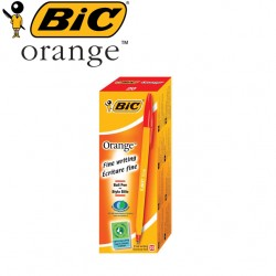 BIC Orange Ballpoint Pens - BOX OF 20