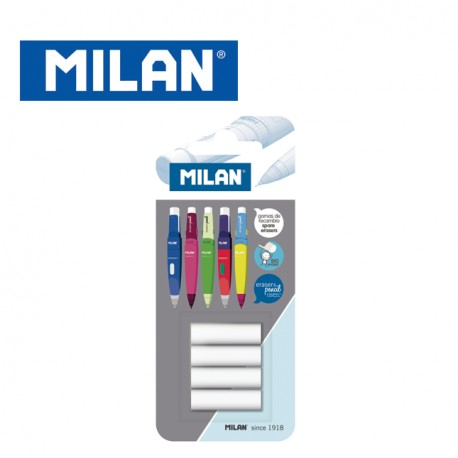 Milan Blister of 4 spare erasers for Capsule & Compact Mechanical Pencils