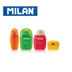 Milan Sharpener & Eraser - Capsule FLUO