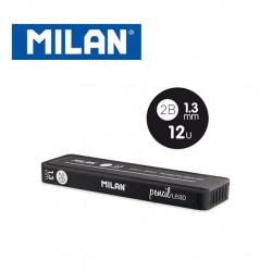Milan Spare Leads for Mechanical Pencils - 2B 1.3mm