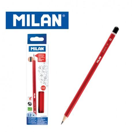 Milan Pencils - Box of 12 HB graphite pencils