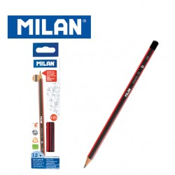 Milan Pencils - Box of 12 HB triangular graphite pencils