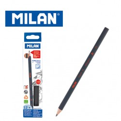 Milan Pencils - Box of 12 HB Rubber Touch triangular graphite pencils
