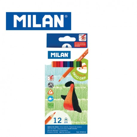 Milan Colour Pencils - Box of 12 or 24 triangular colour pencils