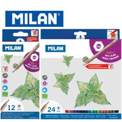 Milan Colour Pencils - Box of 12 or 24 hexagonal colour pencils (big lead 3.3mm)