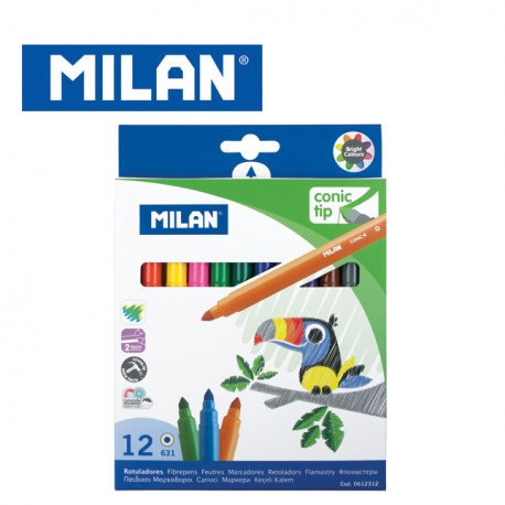 Milan Fibrepens - Box of 12 MAXI water-based fibrepens